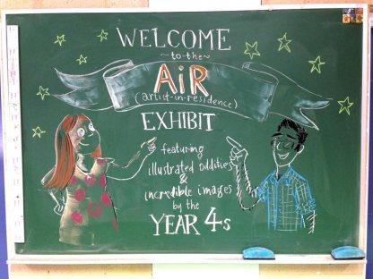 AiR chalkboard art