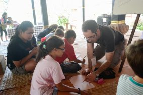 participants in the workshop - photo courtesy Aryo Bimo and Ubud Writers Fest