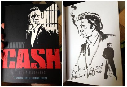 Johnny Cash, a graphic novel by Reinhard Kleist (signed and sketched!)