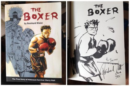 'The Boxer', a graphic novel by Reinhard Kleist (signed and sketched!)