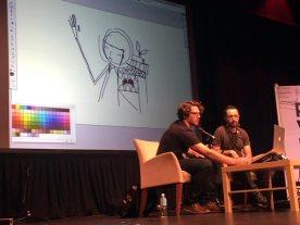 Kyle doing a digital sketch demo