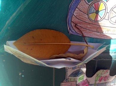 a leaf boat