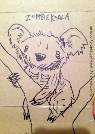 zombie koala (aka 'drop bear')