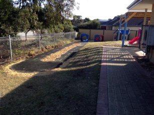 Bike track installed