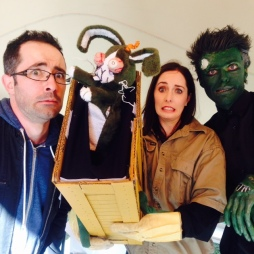 Me, Brad, bunny wrangler and zombie