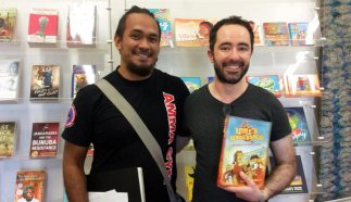 With Brenton McKenna at Magabala Books