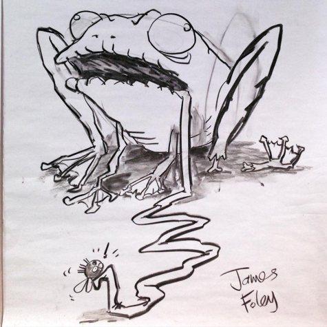 A zombie frog, Kapinara PS