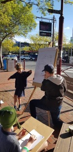 Drawing demo at Collins Bookselers, Croydon, VIC