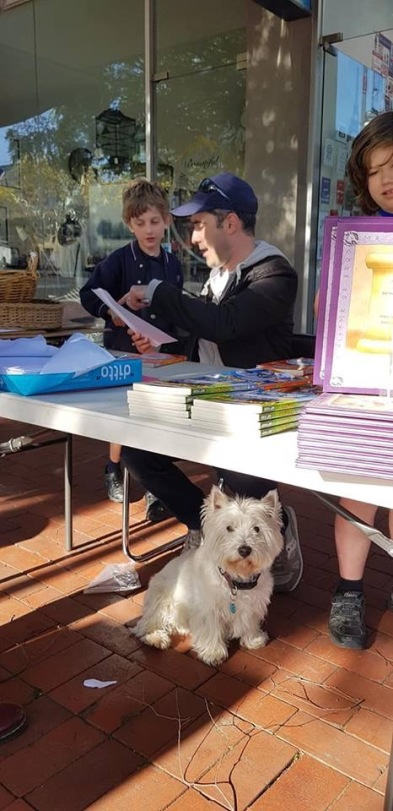 Signing books at Collins Croydon