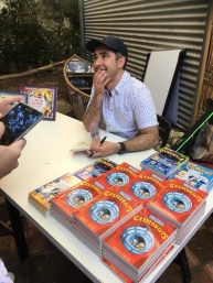 Signing books at Paper Bird bookshop, Fremantle WA