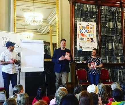 Launching Total Quack Up with Adrian Beck and Sally Rippin at Kids' Book Fest