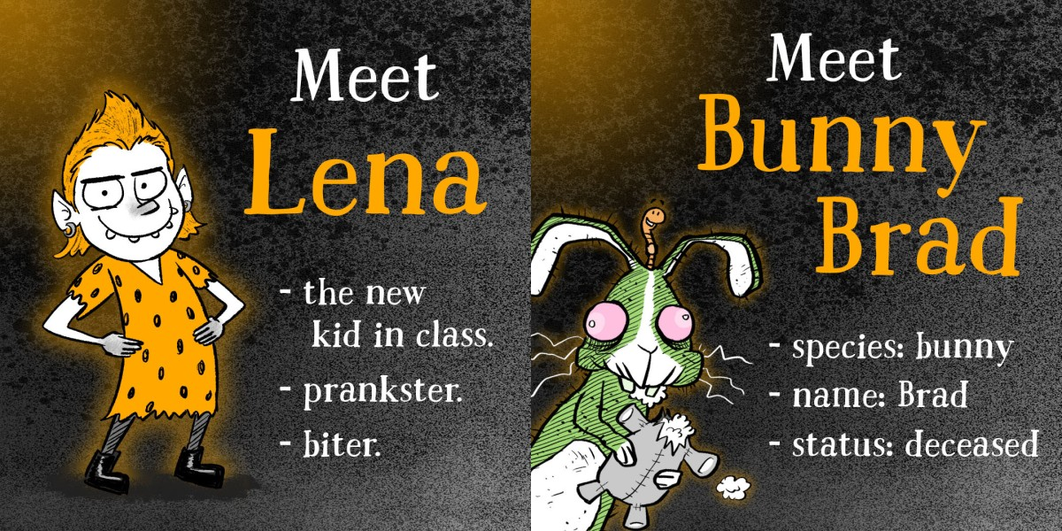 Meet the characters from There's Something Weird About Lena